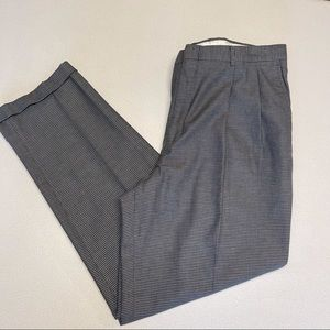 Eddie Bauer Checkered Relaxed Fit Cuffed Dress Pants-38